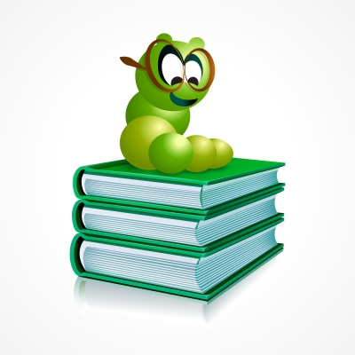 ID-100128458 - Book Worm Cartoon On Books Stock Image - nirots