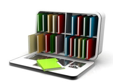 ID-100188595 - Laptop Computer With Books, Isolated On White Stock Image - cooldesign