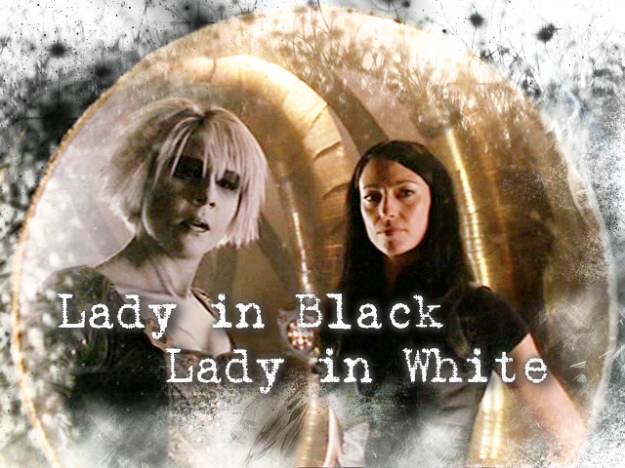 lady in black lady in white